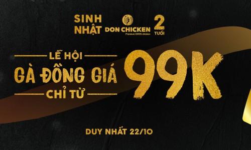 Mừng sinh nhật đồng giá 99k (Duy nhất 22/10/2018)